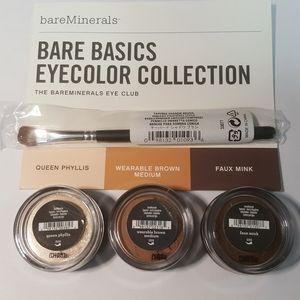 Bare Minerals Basics, 3 eyeshadow, 1 Brush & Instr